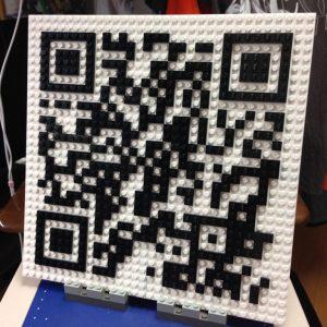 レゴで作ったQRコード